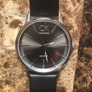 Calvin Klein Silver and Black Watch